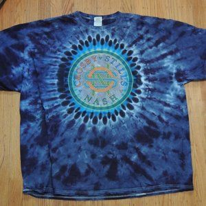 Crosby Stills Nash Tie Dye Tour Shirt Summer 2014